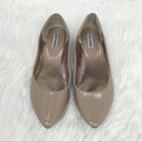 e708b3acb Steve Madden Shoes   Ibiza Flats In Nude Patent Leather   Poshmark